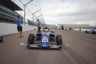 Petra Florescu in British F4 at Rockingham