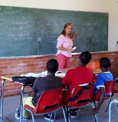 Tutoring at the Steve Tshwete Secondary School