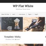 WP Flat White – WordPress Theme Demo