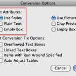 Markzware ID2Q Text Attributes Settings in Conversion Options Window