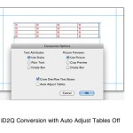 Markzware ID2Q for QuarkXPress Auto Adjust Tables