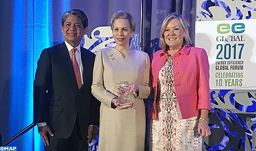"""Le prestigieux Prix du Visionnaire en Efficacité Energétique attribué à Sa Majesté le Roi pour Son leadership """"exceptionnel"""""""