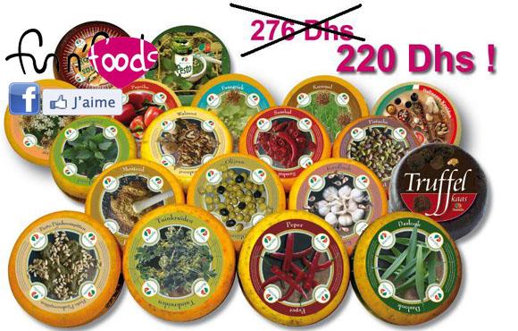 Assortiment de quatre Délicieux Fromages Hollandais à seulement 220dhs chez Fun and Foods!