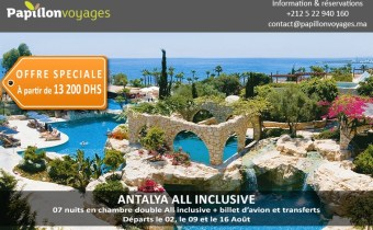 Antalya All Inclusive banniere