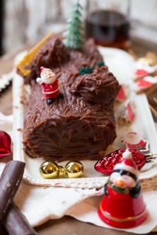 bûche de Noël à la crème de marrons Clément Faugier