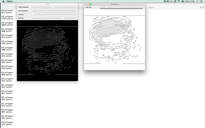 Fingerprint image to line drawing