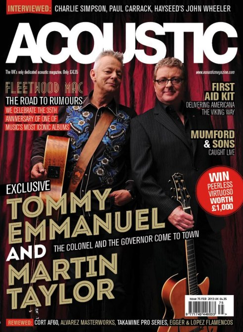 Martin Taylor and Tommy Emmanuel on Acoustic Magazine cover