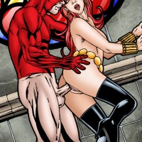 Black Widow was always into daredevils... and this one was in her!