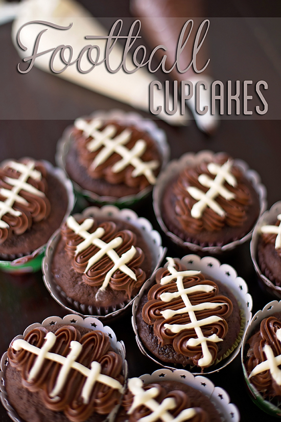 Football Cupcakes_Super Bowl Party