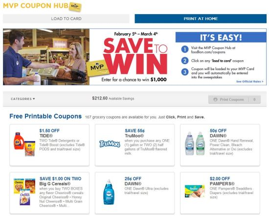 Print at Home Coupons _ FOOD LION