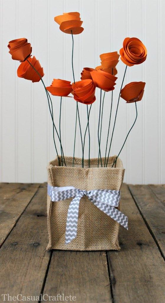 Burlap-Vase-Holder