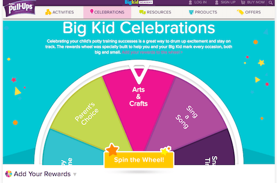 Bid Kid Rewards Wheel