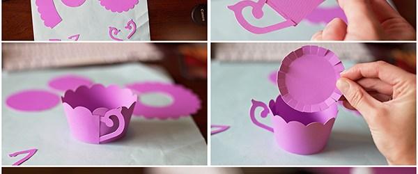 DIY Tea Cup Cupcake Wrappers