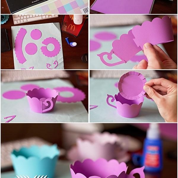 DIY Tea Cup Cupcake Wrappers
