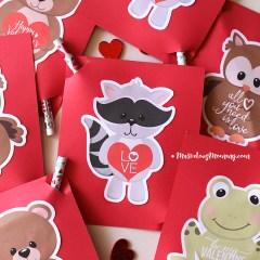 Cute Animal Valentines - Free Printable
