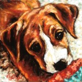 Ruby, 8x8 pastel
