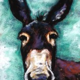 Mule, 5x7 pastel