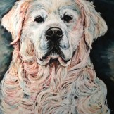 White Lab, 18x24 pastel commission