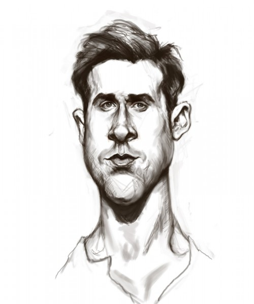 Ryan Gosling Caricature