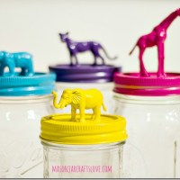 Animal Topped Mason Jars