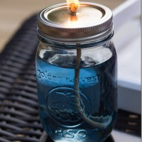 Mason Jar Citronella Candles