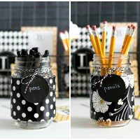 Mason Jar Desk Accessories