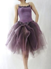 "alt=""prom-bridal purple tutu dress"""