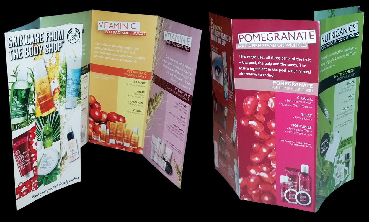 massappealgraphics com   Projects 3 Columns The Body Shop  Brochure Design