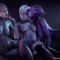 Liara T'soni with her cool Girlfriend attempt lezzie fuck-fest