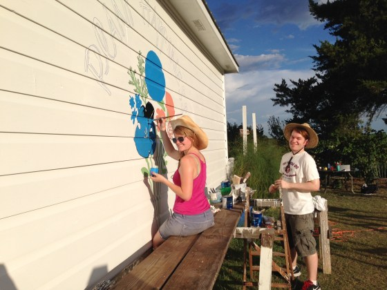 Thank goodness Kat had awesome friends to help her knock or mural out in record time!