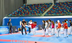 Peparativos del 1er. Campeonato Mundial Cadete de Taekwondo