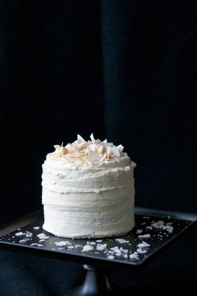 Matcha and coconut cake