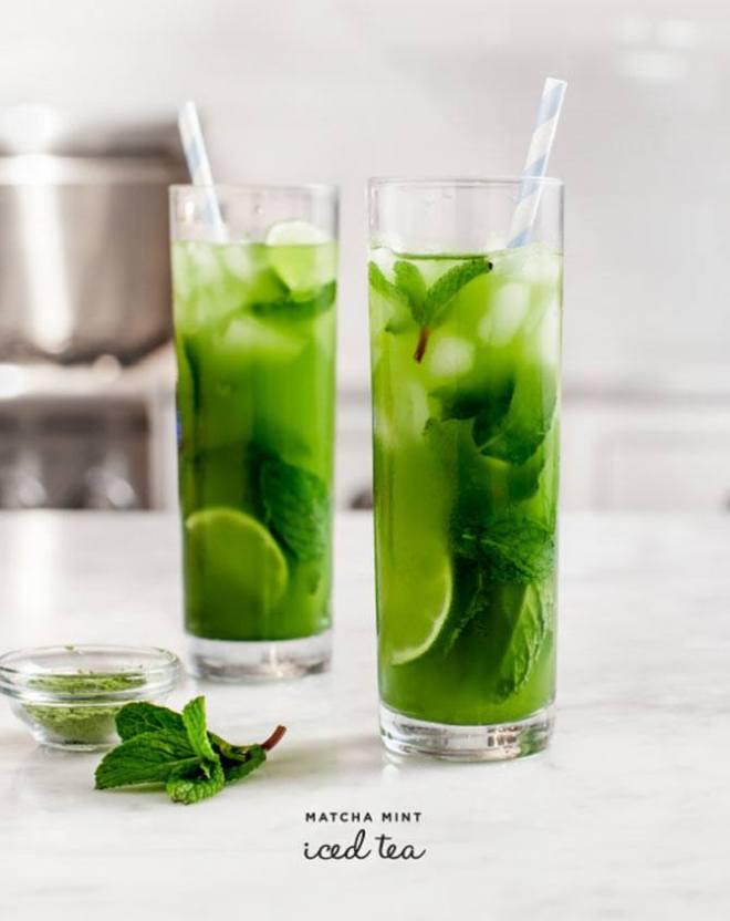 Matcha Mint Iced Tea