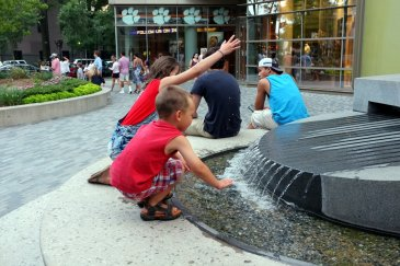 The fountains downtown are always a main attraction