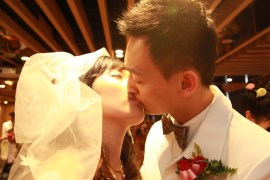 After pronunciation, the bride and groom start a beautiful journey together.