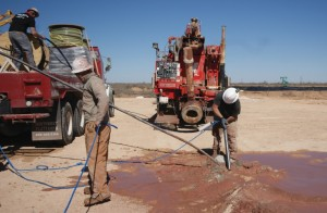 The Durammo™ Deep Anode System installed to protect oil wells in Texas from corrosion.