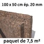 Liège expansé en panneaux 500 x 1000 mm ép 20 mm