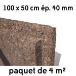 Liège expansé en panneaux 500 x 1000 mm ép 40 mm