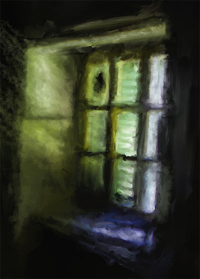 Matericlook TheKitchen Window Detail Urbex Art Photography Digital Painting