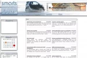 Screenshot smarts-on-tour.de Stand 2006