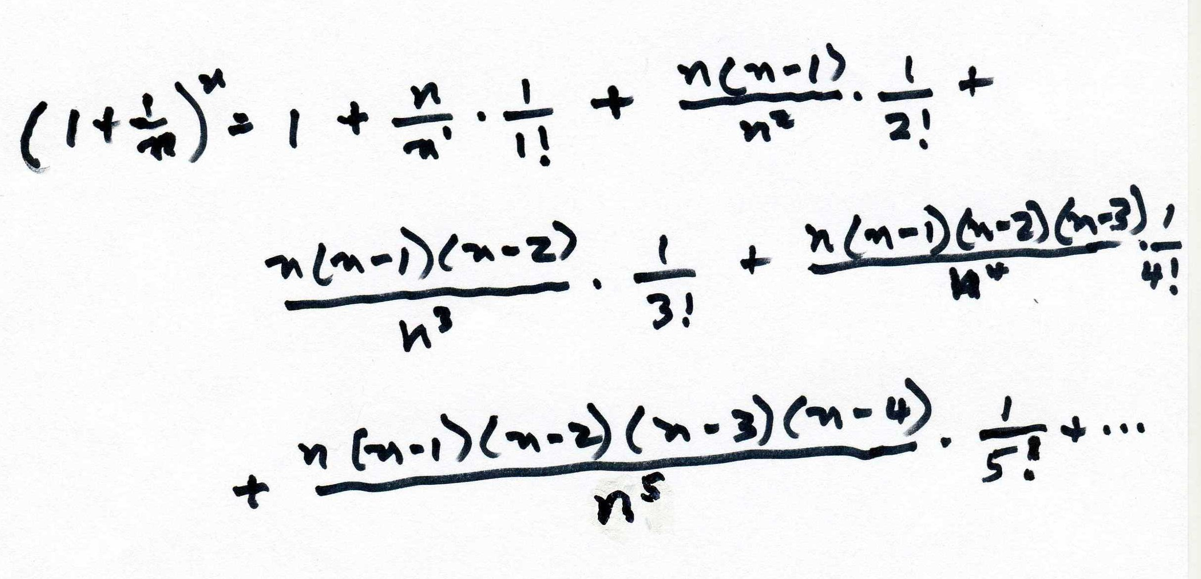 Nifty Gone Out Terms Binomial Now Look At Whathappens When We Let N All Fractions Will Go To Using Binomial Expansion To Get E E Infinity Review E To Infinity Equals dpreview E To Infinity