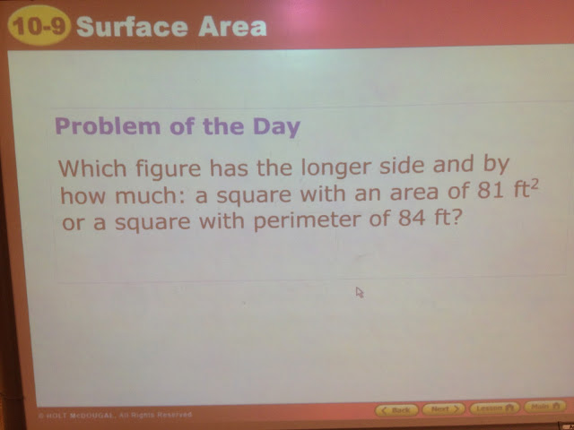 Area to Side Problem Statement