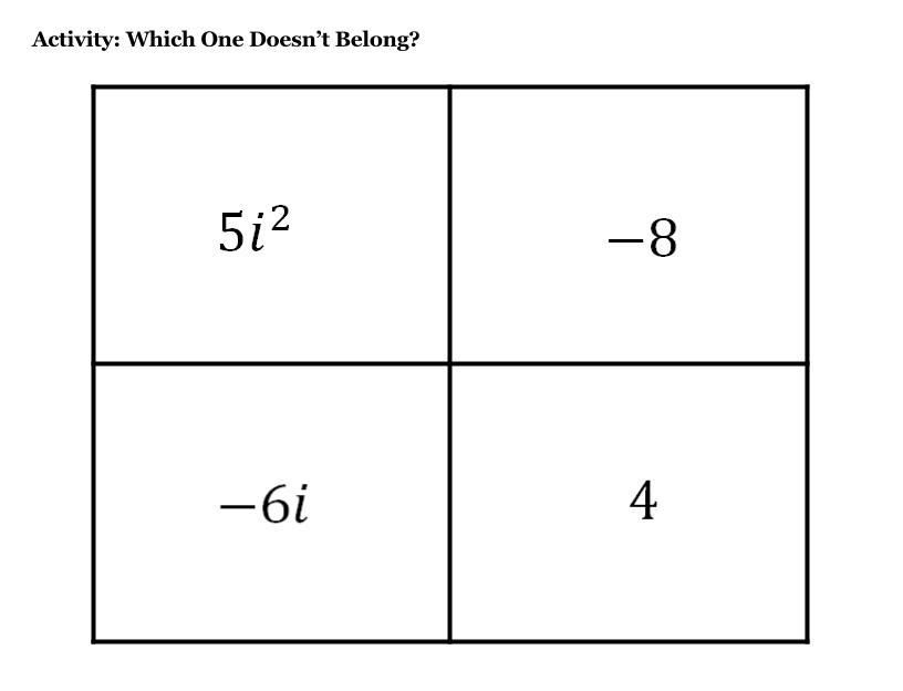 Response to 5i^2 --- -4 Mistake