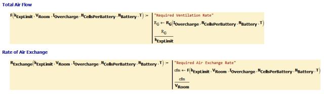 Figure 3: Air Flow and Exchange Formulas.