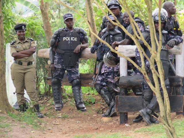 There was heavy police deployment at Besigye's home.