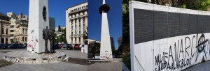 Memorialul Renaşterii Bucureşti profanare eroi Revoluţie slider