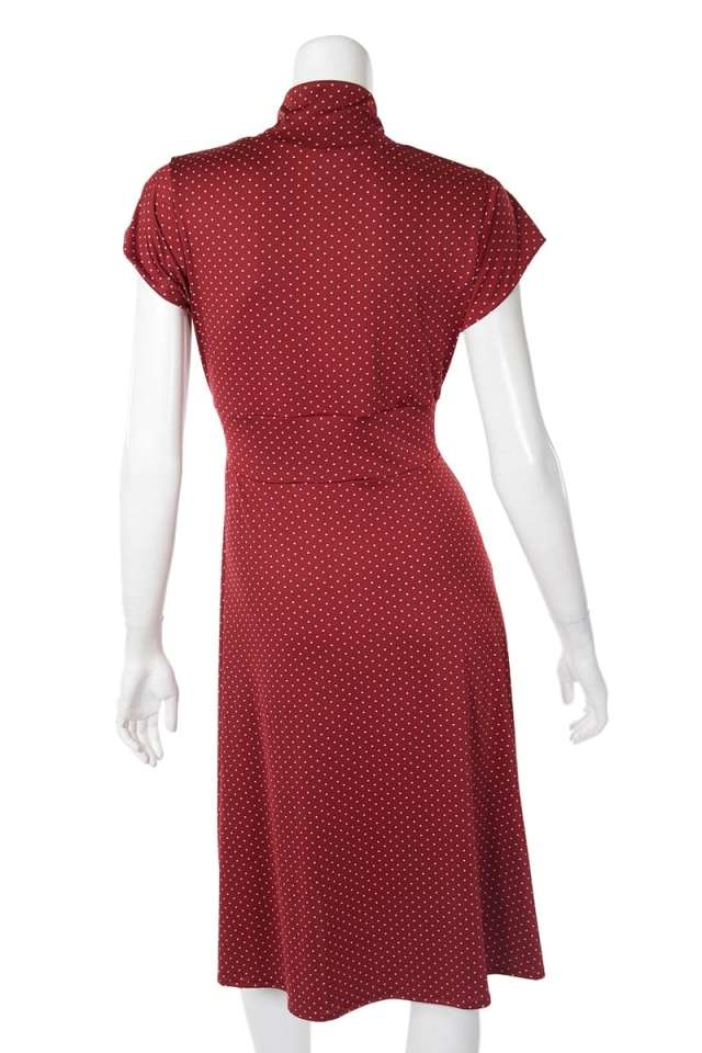 Red Dot Vintage Cap Sleeve Dress