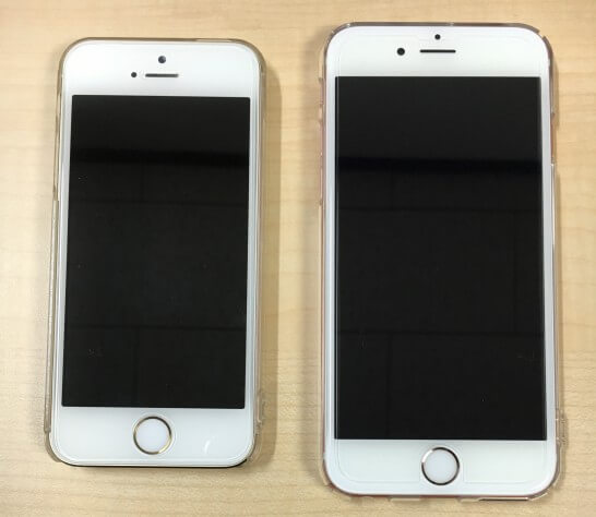 iPhone 5sとiPhone 6s