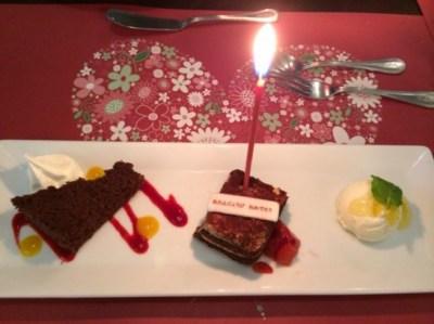 サンマルクのお誕生日スペシャルコースのデザート