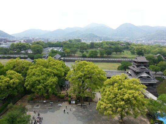 熊本城から見下ろした熊本の景色